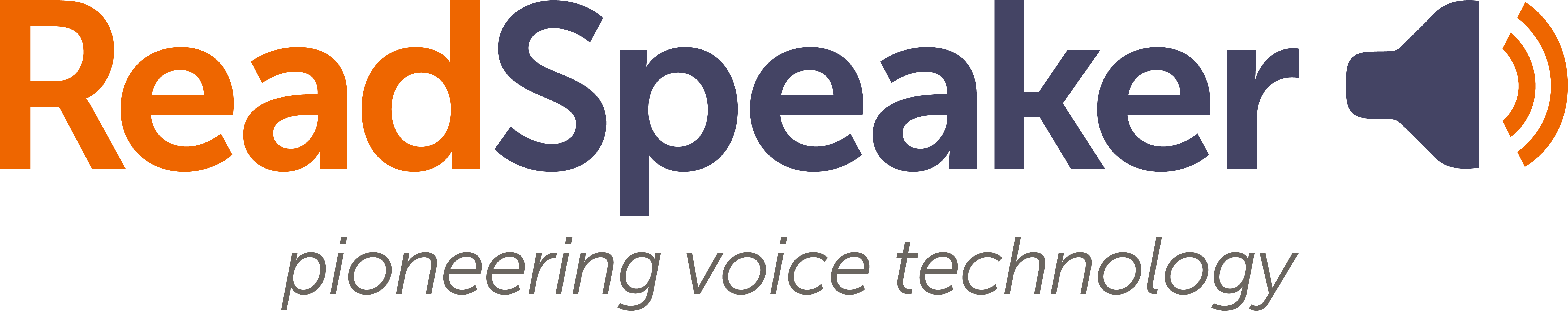 ReadSpeaker logo, pioneering voice technology
